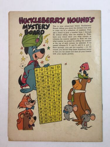 FOUR COLOR #990 DELL 1959 1ST HUCKLEBERRY HOUND image 3