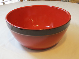 Made in Italy large serving bowl red pasta sala... - $89.09