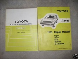 1983 Toyota Starlet Service Shop Repair Manual Set OEM W Electrical Wiri... - $52.42