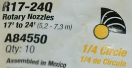 Rain Brid R17 24Q A84550 Yellow Rotary Nozzle Quarter Circle Pack of 10 image 2