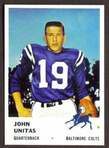 JOHNNY UNITAS Card RP #30 Colts 1961 F Free Shipping - $2.95