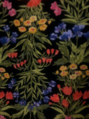 Old Navy Women 16 Dress V Neck Floral Black Multi Long Sleves Lined Side Zip