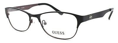 Primary image for GUESS GU2398 BKGUN Women's Eyeglasses Frames 55-16-140 Black / Brown + CASE