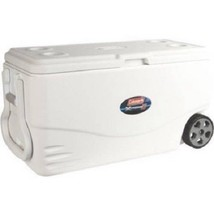 100-Quart Wheeled Cooler Outdoor Ice Chest Camping Hiking Beach Summer W... - $86.28