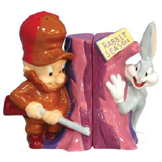 Looney Tunes Elmer Fudd Bugs Bunny Ceramic Salt & Pepper Shakers Set NEW UNUSED - $25.15