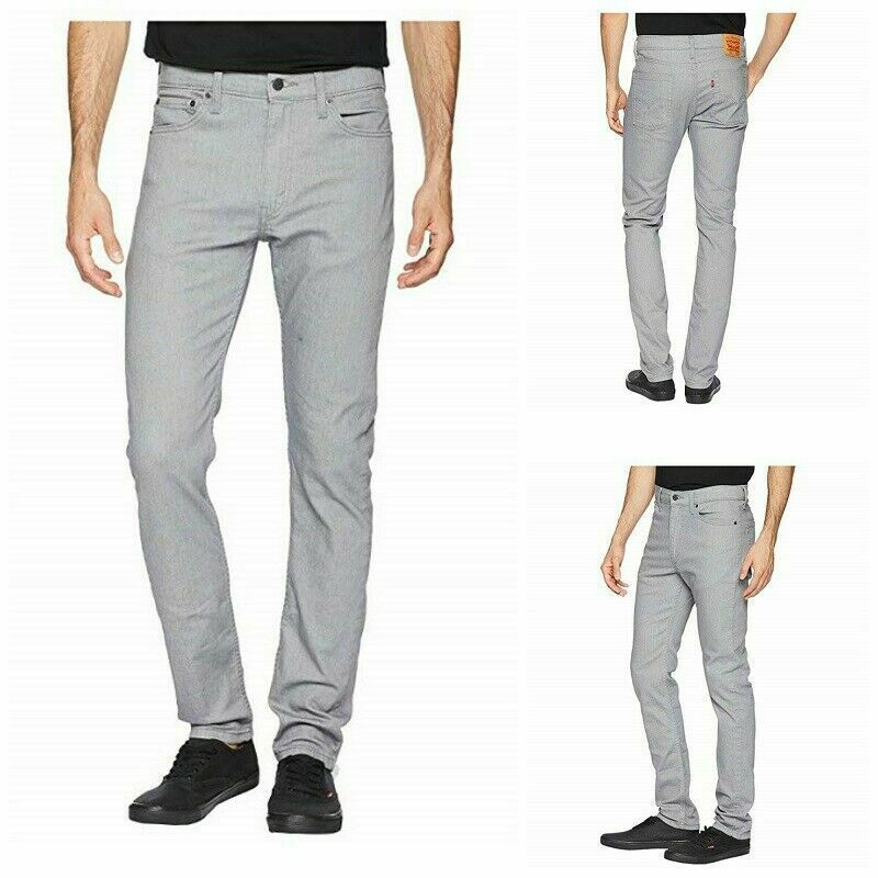Levi Men 510 Skinny Fit Stretch Jean Size W30 x L32 Color Gray RRP $69.50