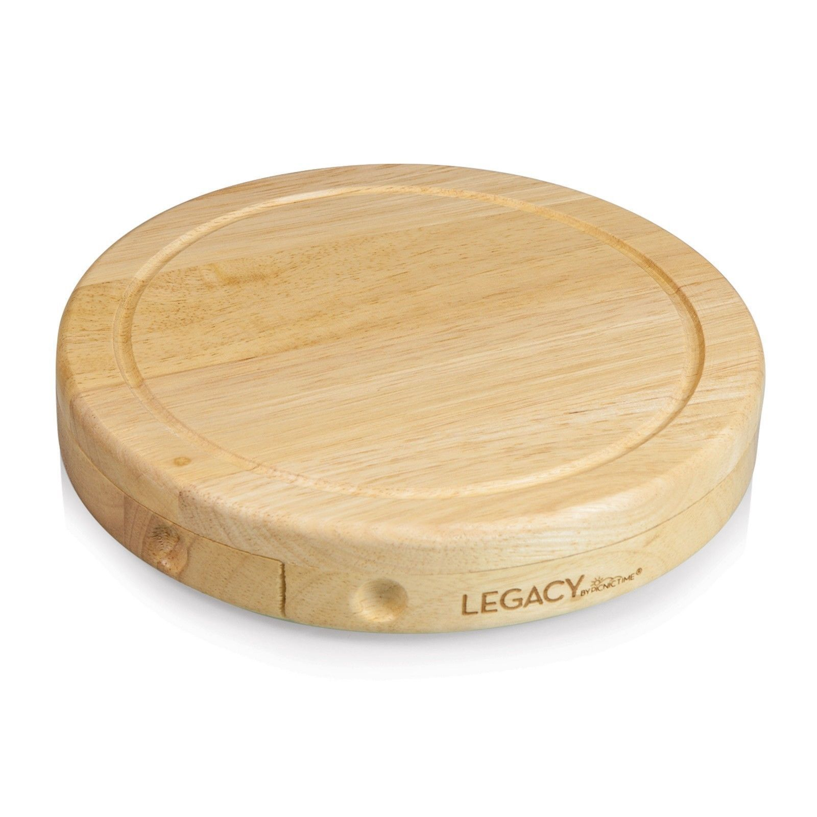Legacy Brie Cheese Cutting Board Set Swivel Open Rubberwood Serving Tools Kit