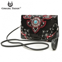 Cowgirl Trendy Buckle Western Messenger Bag - $45.95