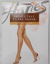 Hanes Absolutely Ultra Sheer Control Top Reinforced Toe Pantyhose G Brow... - $8.41