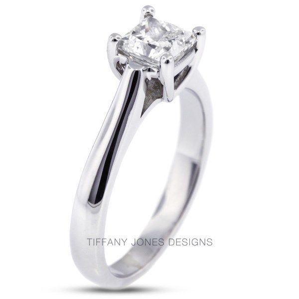 Primary image for 1.21ct F-VS2 Exc Radiant Natural Diamond 14k Gold Cathedral Engagement Ring 3.8g