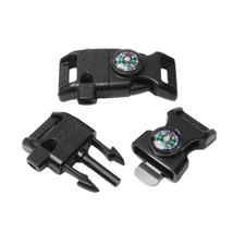 10pcs Pack Black Emergency Survival Kit Compass Fire Starter Outdoor Cam... - $29.06