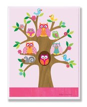 The Kids Room by Stupell Owls, Birds, and Squirrel in A Tree Rectangle Wall Plaq image 3