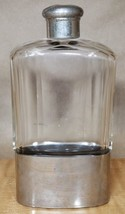 Vintage German glass And Silverplated flask  - $24.75