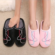 Unisex Indoor Shoes Winter Warm Cotton Thick Bottom Fur Slippers Accesso... - $19.99