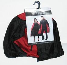 Hooded Vampire Cape Dracula Halloween Cosplay Costume Reversible Black R... - $8.41