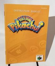 Hey You Pikachu Instructions Manual Only Nintendo N64 - $4.74