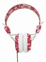 WESC Conga Headphones HawaiiWe Jester Red Flowers w Microphone New in Box image 2
