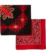 Levi's Men's Printed Bandana Set,Black/Red,One Size - $12.88