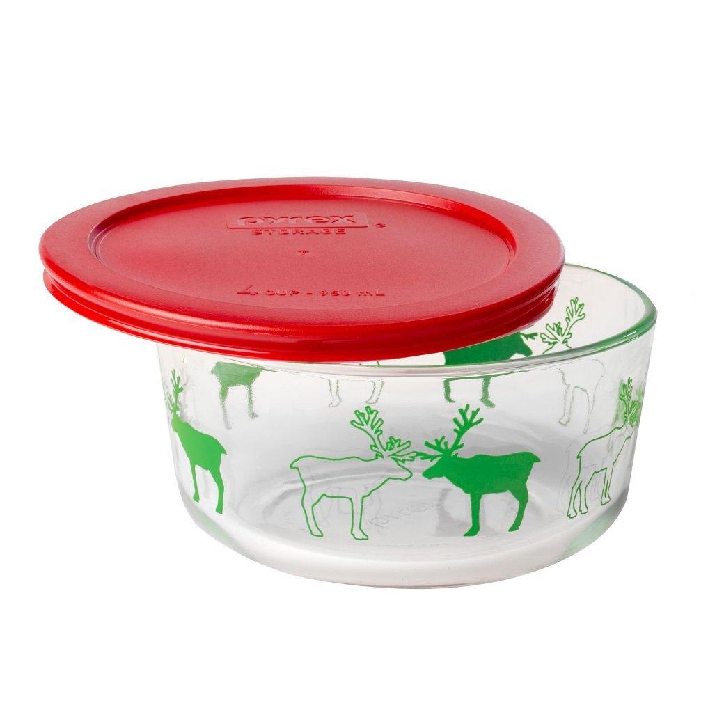 4 Cup Pyrex Storage Dish- Reindeer - $10.00