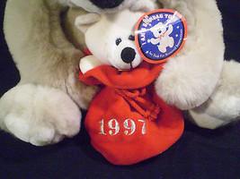 Chosun Plush Teddy Bear Soft Momma Baby Cub Holiday 1997 Beanbag Sack La... - $39.00