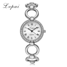 Lvpai® Gold Plated Bracelet Watch Women Luxury Crystal Dress Fashion Wri... - $6.43