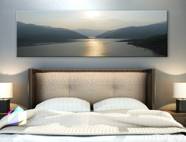 Single panel Art Canvas Print lake mountains na... - $54.99 - $94.99