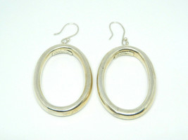 HOB Mexico Sterling Silver .925 Vintage Modernist Thick Oval Earrings 10.2g - $98.99