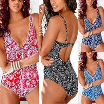 Women's One Piece Bohemian Print Fashion Swimsuit image 2