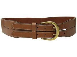 Lauren Ralph Lauren Cornwall Smooth Pu/Stretch Belt (Tan, XL) - $44.90