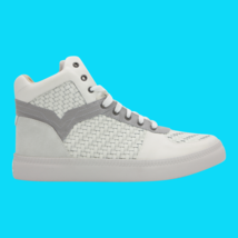 DIESEL S-Spaark Mid Mens Leather Fashion Sneakers Ice Paloma Size 12 New  - $121.54