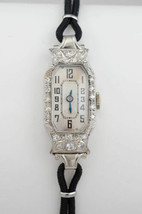 Platinum Vintage Ladies Hamilton Watch 17 Jewel 0.50 TDW - $995.00