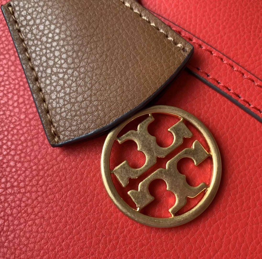 Tory Burch Perry Small Triple-Compartment Leather Tote