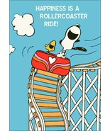 """Snoopy And Woodstock - """"Happiness Is A Rollercoaster Ride"""" Stand-Up Display - $15.99"""
