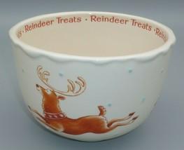 Hallmark Reindeer Treats Deer Winter Snowflake Snow candy bowl container - $19.75