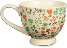 "Pavilion Gift Company 54006""A Mother's Love-Dog Mom"" Floral Soup Bowl Mug, Teal, image 3"