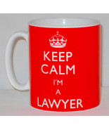 Keep Calm I'm A Lawyer Mug Can Personalise Great Law Solicitor Legal Gif... - $11.64