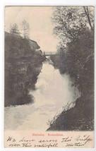 Slettafos Waterfall Bridge Romsdalen Norway 1906 postcard - $5.94