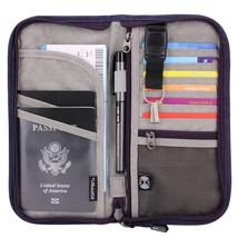 Zoppen RFID Travel Passport Wallet & Documents Organizer Zipper Case wit... - €21,05 EUR