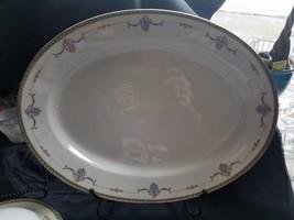 NORITAKE China LAUREATE 61235 Pattern Oval Serving Dish Platter 16 INCH  - $31.63