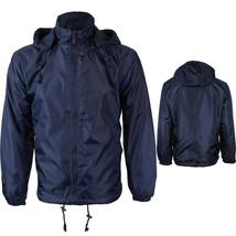 Renegade Men's Windbreaker Water Resistant Fleece Hooded Jacket New w/Defect