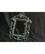 Ant/Vintage J M 34 Iron Art Victorian Style Black Wrought Iron Picture F... - $34.54