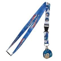 Mega Man Face Video Game ID Badge Holder Keychain Lanyard - $11.00