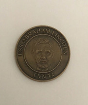 USS Abraham Lincoln - Navy Challenge Coin - Standing Tall In The Fleet - $150.00