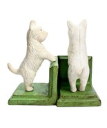 WESTIE CAST IRON BOOKENDS Heavy West Highland White Terrier Dog Book End... - $52.95