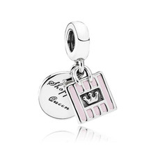 Authentic S925 Sterling Silver Jewelry Shopping Queen Dangle Charm fit P... - $22.99