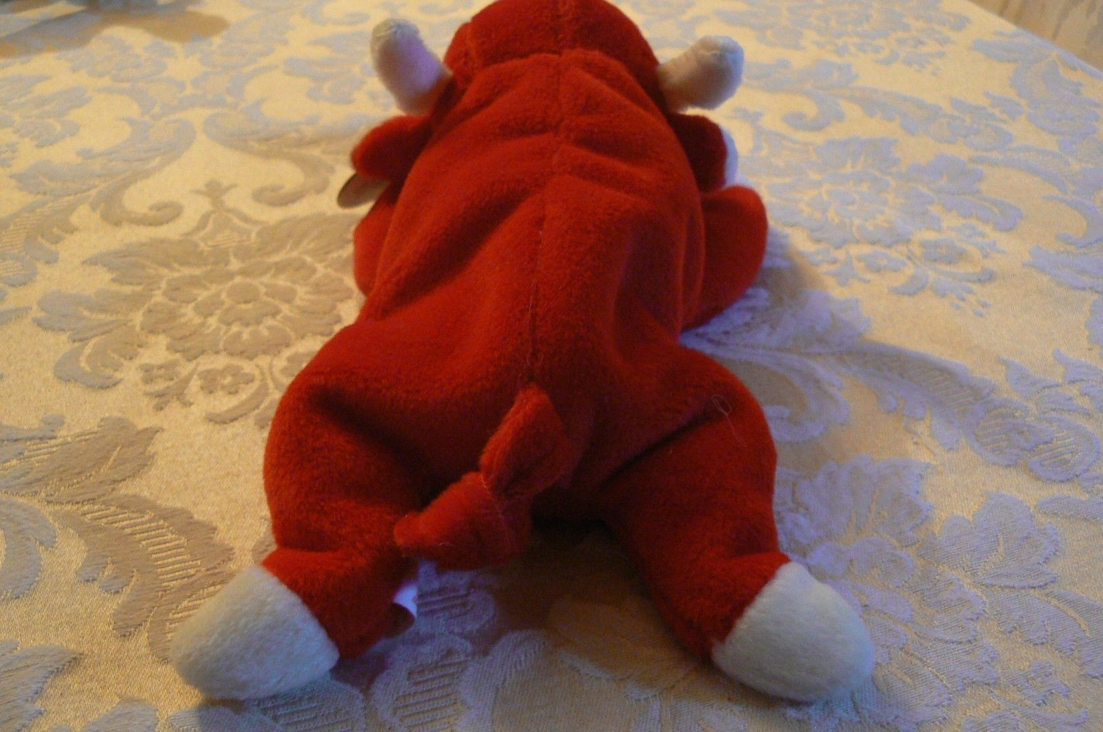 "Vintage Ty Beanie Babies Snort "" The Bull "" Hang Tag/Tush Tag 1995 image 4"