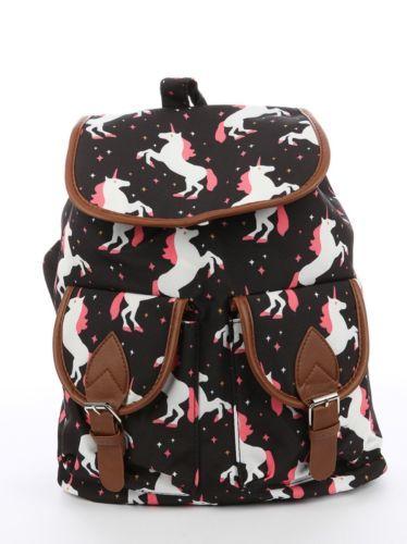 Unicorn Print Travel Backpack Bag Accesory