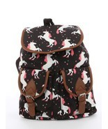 Unicorn Print Travel Backpack Bag Accesory - £15.62 GBP