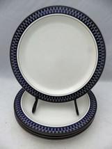"Mikasa Aztec Blue pattern - set/lot of 4 Salad plates - 8 3/8"" - #CB009 - EUC - $18.76"