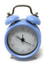 2x Azul Mini Viaje Alarma Relojes Caja 10.2cm X 7.6cm - $9.96